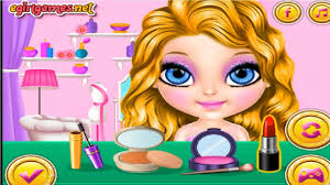 baby barbie glittery fashion makeup
