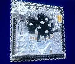 luxury christmas card topper snow scene
