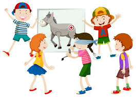 pin the tail on the donkey - Download Free Vectors, Clipart ...