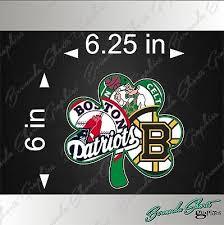 Boston Sports Fan Shamrock New 6 Vinyl Decal Red Sox Patriots Bruins Celtics 4 97 Picclick