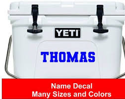 Yeti Cooler Decal Etsy