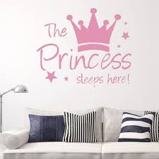 Removable The Princess Wall Sticker Crown Wall Sticker Girls Bedroom Decor Baby Room Art Decal Walmart Com Walmart Com