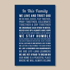 Personalized Family Rules Wall Art In This Family Papermints
