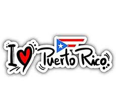Amazon Com Jjh Inc I Love Puerto Rico Slogan Vinyl Decal Sticker Waterproof Car Decal Bumper Sticker 5 Kitchen Dining