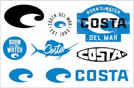 Costa Blue 8 Piece Decal Sheet Costa Del Mar