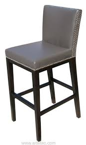 gray leather counter height bar stools