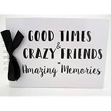 quote good friends memory book scrapbook album present gift