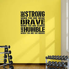 Amazon Com Designdivil Be Strong When You Are Weak Word Square Premium Motivational Wall Art Decal Xlarge 80cm 32 Wide X 76cm 30 Home Kitchen