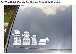 Etsy Dr Who Dalek Family Car Sticker Now With K9 Option By Scdj1125 Family Car Stickers Best Family Cars Family Car Decals