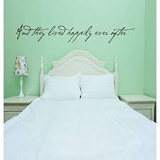 Design With Vinyl Re 2 C 2346 And They Lived Happily Ever After Love Quote Vinyl Wall Decal Sticker 12 X 36 Black Amazon Com
