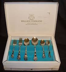 genuine wallace stainless flatware set