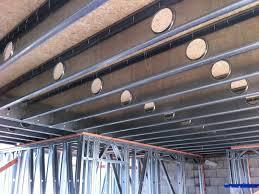 floor joist system for mezzanine floors