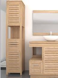oasis teak tall bathroom cabinet