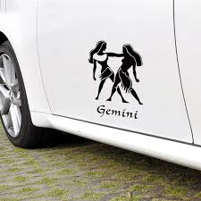 Funny Cartoon Gemini Totem Car Styling Auto Decor Vinyl Stickers And Decals Car Window Side Door Tail Diy Decor Sticker Car Styling Stickers And Decalsvinyl Stickers Aliexpress