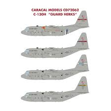 Caracal Models 72062 Usaf Lockheed C 130h Hercules Guard Herk Decals 1 72 The Largest Choice With 1001hobbies Com