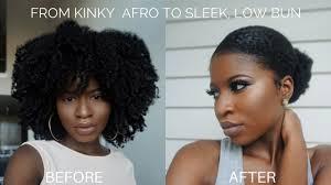 hair to a sleek and low bun