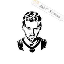 2x Lionel Messi Vinyl Decal Sticker Different Colors Size For Cars B M D Stickers