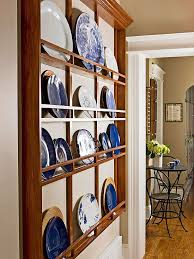 galley kitchen designs plates on wall