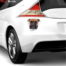 Three Ratels Ftc 1065 Grumpy Boxer Dog 3d Sticker Decal For Car Laptop Luggage Refrigerator Door Decor Waterproof Car Sticker Car Stickers Aliexpress