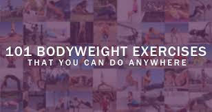 101 bodyweight exercises that you can