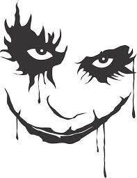 Joker The Dark Knight Batman Horror Vinyl Car Decal Bumper Image 0 Joker Stencil Joker Drawings Joker Face