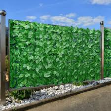 Todaytop Artificial Leaf Hedge Panel Garden Plant Fence Uv Protected Privacy Screen Greenery Leaf Fencing Artificial Leaf Screening Roll Amazon Co Uk Kitchen Home