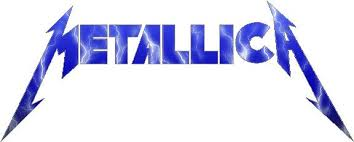 Metallica Blue Lightning Decal Sticker