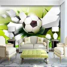 3d Soccer Football Sports Wallpaper Mural For Home Or Business Trendy Living Room Wallpaper Wall Stencil Living Room Wallpaper Living Room
