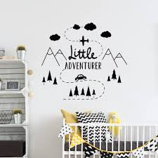 Little Adventure Wall Decal Woodland Mountain Wall Decor Nursery Decor Travel Boys Rooms Decor Home Decoration Vinyl B165 Wall Stickers Aliexpress