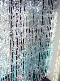 white blue leaf bead curtain