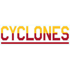 Iowa State Cyclones 3 X 10 Duo Tone Car Decal