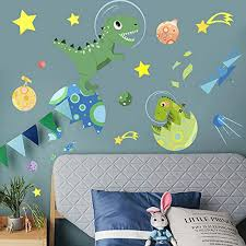 Kids Wall Decals Dinosaurs In Space Wall Buy Online In Tanzania At Desertcart