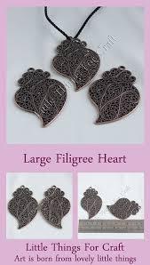 valentine heart charms pendants