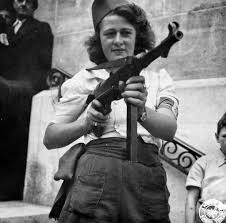 Simone Segouin, the 18 year old French Resistance fighter, 1944