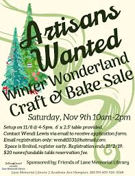 Are you a crafter or baker? The Friends... - Lane Memorial Library ...