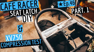 cafe racer parts and diy seat latch