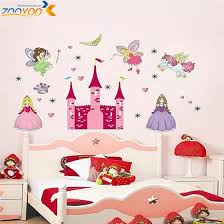 Princess Castle Heart Horse Angel Wall Stickers For Kids Room Girls Room Sticker Children Wall Decal Home Decor Zooyoo833 3 5 Sticker For Kids Room Wall Stickers For Kidsangel Wall Stickers Aliexpress
