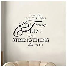 Wall Decal I Can Do All Things Through Christ Who Strengthens Me Wall Decal Wall Sticker Mural Art Wall Decor Bedroom Living Roo Wall Stickers Aliexpress