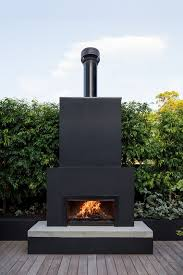 outdoor fireplace black this vaucluse