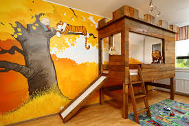 A Calvin And Hobbes Kids Bedroom Complete With A Tree Fort Loft Bunk Bed