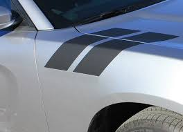 2015 2021 Dodge Charger Double Bar 15 Hood Hash Marks Stripe Decals Auto Motor Stripes Decals Vinyl Graphics And 3m Striping Kits