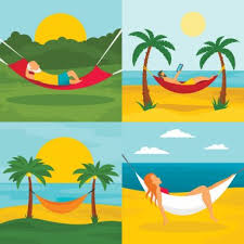✅ hammock garden premium vector download for commercial use. format: eps,  cdr, ai, svg vector illustration graphic art design