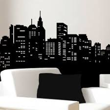 Skyline Wall Decal The Frugal Materialist Interior Design For Less