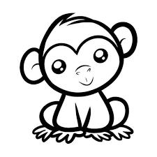 E Monkey Vinyl Sticker