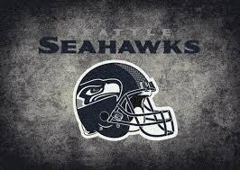 seattle seahawks logo area rug
