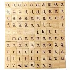 100 Uds Palabra De Madera Alfabeto Azulejo Completo Scrapbooking
