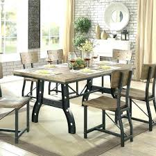 glamorous wood and metal kitchen table