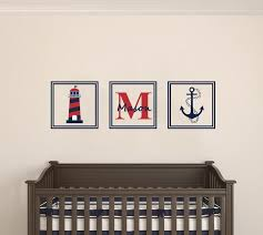 Custom Name Initial Lighthouse And Anchor Wall Decal Egraphicstore