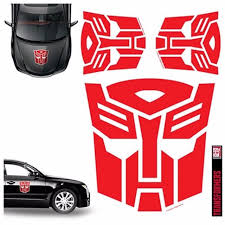 Transformers Autobots Red Car Decal Set