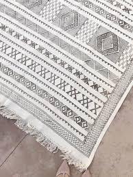 moroccan sabra cactus silk runner rug